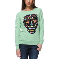 Glamour Kills Day Of The Living Mint Crew Neck Sweatshirt at Zumiez : PDP