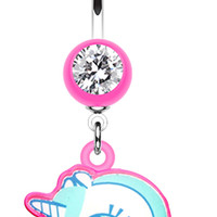 Baby Unicorn Belly Button Ring