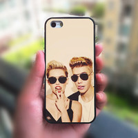 ipod 5 case,ipod 4 case,Justin Bieber and Miley Cyrus,iphone 4 case,iphone 5 case,iphone 5S case,iphone 5C case,phone case,iphone case