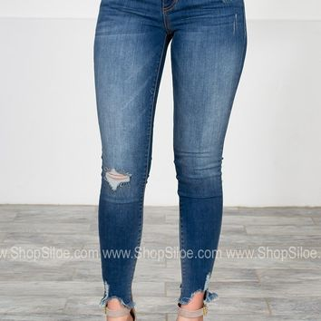 Dark Skinny Low Rise Denim