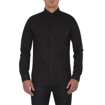 Ben Sherman - Collar Pin Mens Button-Up Long Sleeve Shirt