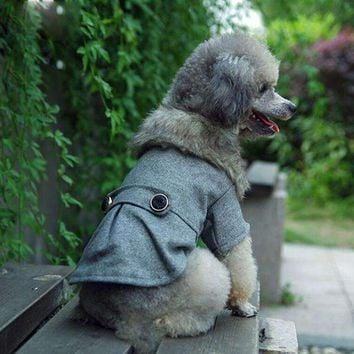 Puppy Cat Pet Jacket Dog Wool Coat Clothes Winter Warm Outwear Costume