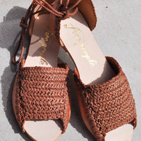 Free People Beaumont Woven Flat