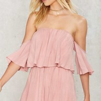 Take it Off-Shoulder Ruffled Romper