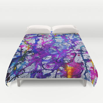 Love Within (color splash) Duvet Cover by DuckyB (Brandi)