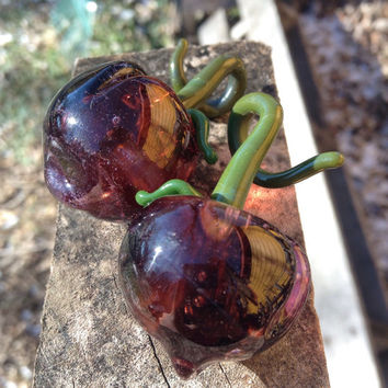 Custom glass stonefruit earweights