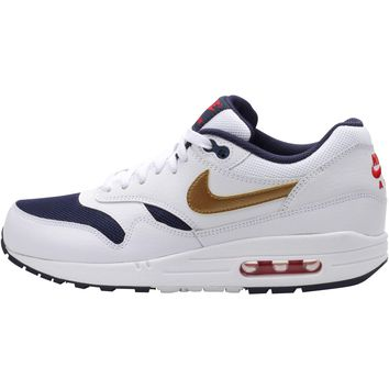 Nike Air Max 1 Essential - White/Metallic Gold-Mid Navy