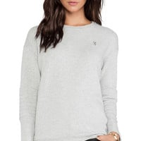 Obey Lofty Mountain Moto Crew Sweatshirt in Gray