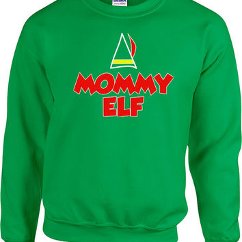 Funny Christmas Sweater Mommy Elf Sweater Mommy Sweater Ugly Xmas Sweater Christmas Presents Holiday Season Xmas Gifts Unisex Hoodie - SA462