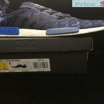 Spring Summer 2018 Legit Cheap Fashion Popular Goyard X Adidas NMD R1 Boost Blue White BA7562 sneaker