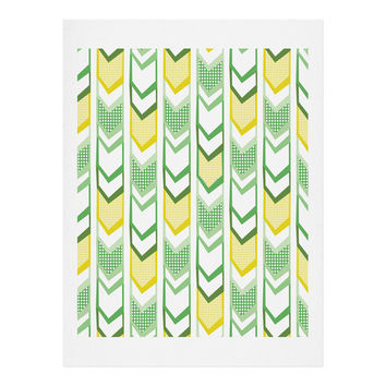 Heather Dutton Right Direction Lemon Lime Art Print