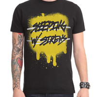 Sleeping With Sirens Paint Slim-Fit T-Shirt