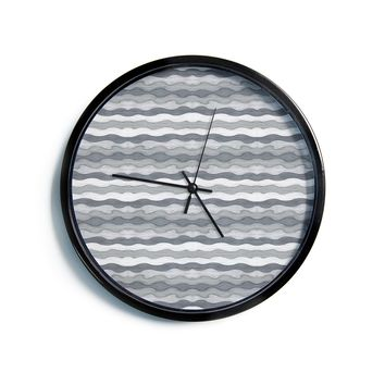 "Empire Ruhl ""51 Shades of Gray"" Gray White Modern Wall Clock"