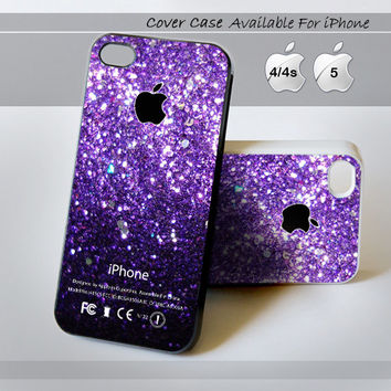 Ombre Fade Pattern Glitter  - Print on hardplastic for iPhone 4/4s and 5 case, Samsung Galaxy S3/S4 case. Select an Option