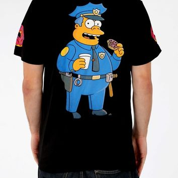 HYPE. — HYPE X SIMPSONS. CHIEF WIGGUM BLACK TSHIRT