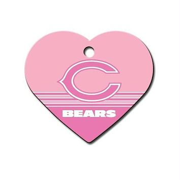 Chicago Bears Heart ID Tag