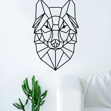 Geometric Wolf V2 Animal Design Decal Sticker Wall Vinyl Decor Art Living Room Bedroom Abstract Cool Teen