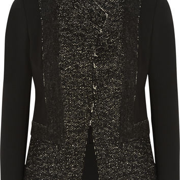 Donna Karan New York - Tweed and stretch-jersey jacket