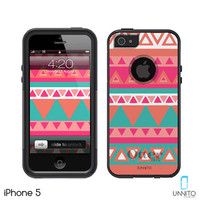 Otterbox iPhone 5 Black Commuter Series Aztec Design