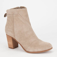 Toms Lunata Womens Booties Taupe  In Sizes