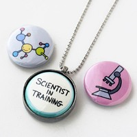 Handmade Gifts | Independent Design | Vintage Goods 3-in-1 Necklace Set - Scientist Trio - Geek Chic