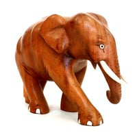 Exclusive Elephant in assortment (different colors) - Hand Nandu Wood carved from old Sri Lanka technology