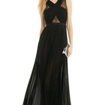BCBGMAXAZRIA Caia Pleated Gown