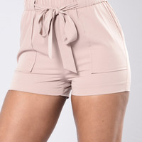 Just Another Girl Shorts - Khaki