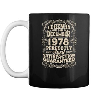 Vintage December 1978 Legend Tshirt Funny 40th Birthday Gift Mug