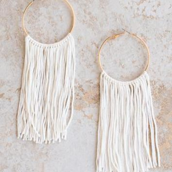 FC Fringe Earrings - Ivory