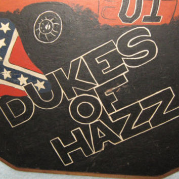 Unique Vintage 1983 Hand Painted Dukes of Hazard Painting on Wooden Plaque