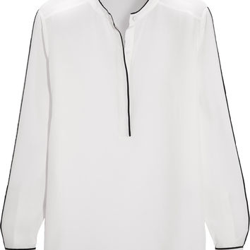 Iris and Ink Adela silk crepe de chine blouse – 0% at THE OUTNET.COM