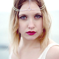Simple Silver Head Chain, Chain Headdress, Chain Headband, Hair Chain, Head Jewelry