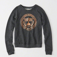 Womens Embellished Crew Sweatshirt | Womens Clearance | Abercrombie.com