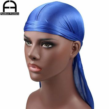 New Luxury Men's Silky Durags Bandana Turban Hat Wigs Doo Men Satin Durag Biker Headwear Headband Pirate Hat Hair Accessories