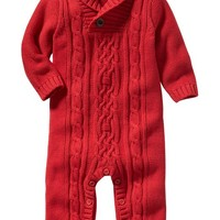 Old Navy Footless Cable Knit One Piece For Baby