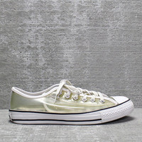 Vtg 90a Clear Transparent Vinyl Converse All Star Sneakers Mens 7/ Womens 9.5- 10