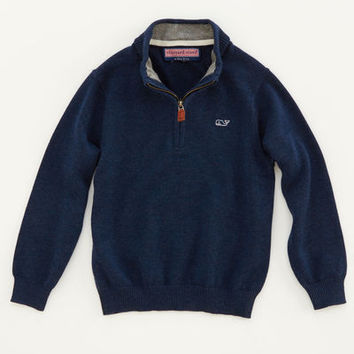 Cotton 1/4-Zip Sweater