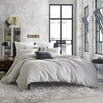 Kenneth Cole Reaction Home Element Reversible Duvet Cover in Grey