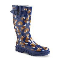 Women's Rain Boots - Navy Foxes