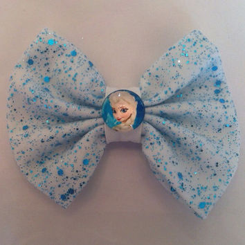 Frozen Inspired Queen Elsa Hair Bow