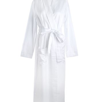 Louis at Home Gramercy Long Cotton White Robe