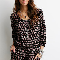 Abstract Mandala Print Romper