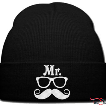 Mr Geek beanie knit hat