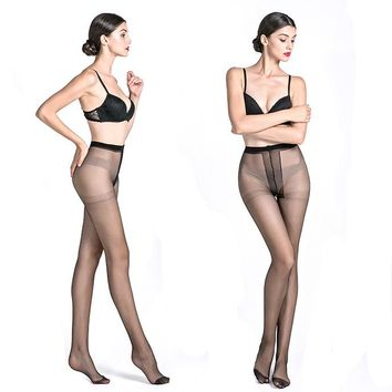 Super Elastic Magical Stockings Women Tights Sexy Silk Stockings Seamless Black Skin Colors Transparent Pantyhose Collant Femme