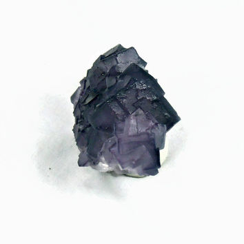 Fluorite Purple Mineral Specimen China Cube Heady Crystal New Metaphysical Healing Stone Rock Collection Science