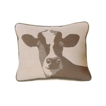 happy cow rustic modern needlepoint kit  diy by modernneedleworks