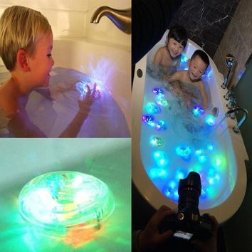 BELL Baby Children's Bathroom LED Lights Bath Toy Lamp Bathing Tub Lights Funny Waterproof In Tub (Color: Multicolor)