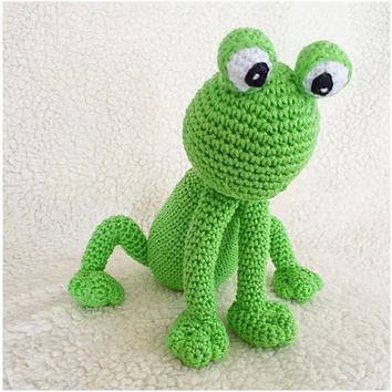 Frog amigurumi PDF crochet pattern Dutch and Englisch