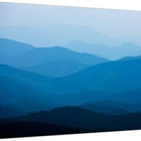 Blue Mountains, Blue Ridge Parkway, Virginia Premium Photographic Print by Paul Souders at Art.com